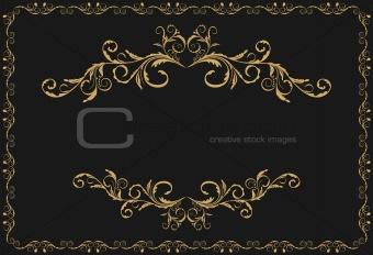 Illustration the luxury gold pattern ornament borders