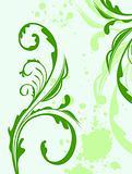 Illustration spring grunge flower and  leaf