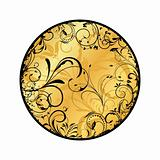 gold floral medallion