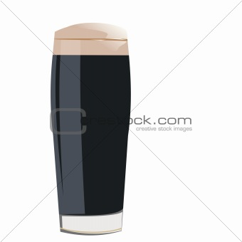 A glass with cola is isolated on white background