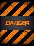 Grunge warning background. Vector illustration