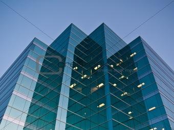 Modern Office Building at Dusk