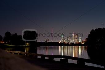 Toronto Skyline at Night from Ashbridge's Bay