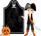 Halloween Pirate pointing