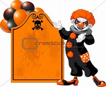 Scary Halloween Clown inviting