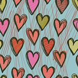 pattern with  hearts and flowers