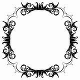 Blank floral frame border