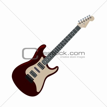 Realistic illustration electric guitar