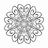 Illustration decorative pattern swirl for design