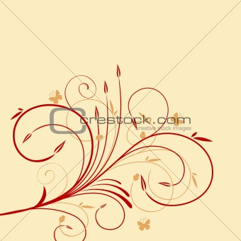 Beautiful background with flower for design