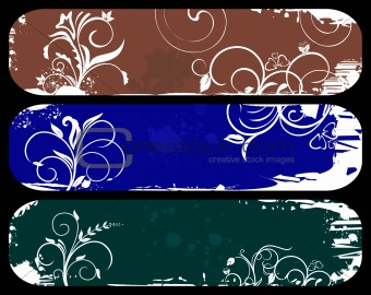 Abstract grunge banners