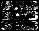 Set abstract grunge banners