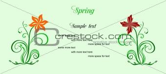 Beauty spring card