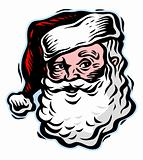 Face of Santa Claus. Vector