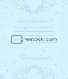 A beautiful luxury wedding invitation