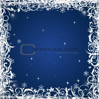 Grunge Christmas frame