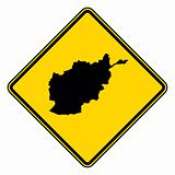 Afghanistan road sign