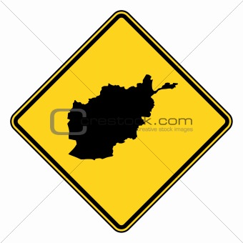 Afghanistan road sign