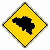 Belgium road sign