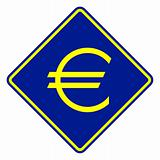European Currency road sign