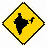 India map road sign