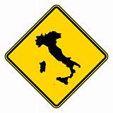 Italy road sign