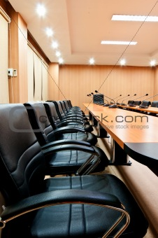 empty seats in boardroom