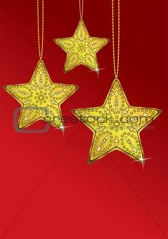 three golden stars