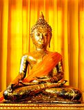 principle Buddha image in a temple, image of Buddha in a temple