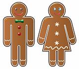 two gingerbread cookies