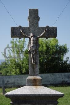 crucifix and blue sky