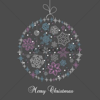 Christmas ball in cartoon style. Vector