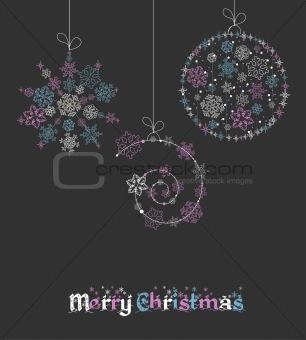 Christmas ball in cartoon style. Vector