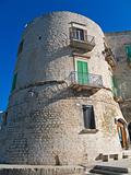 The Aragonese Tower of Giovinazzo. Apulia.