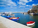 Landscape view of Giovinazzo seaport. Apulia.