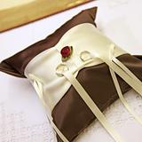 elegant ring pillows with wedding rings