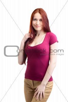 beauty woman in pink