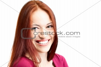 beauty woman with fair hair