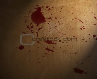blood splashed on the floor