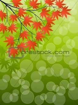 Abstract background with a tree branch. Vector illustration.