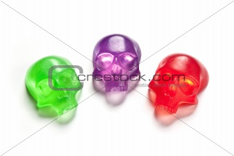 Three skull soap bars