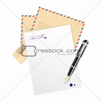 Blank, paper for message