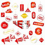 Red sale icons