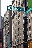 Business Street Corner Signs