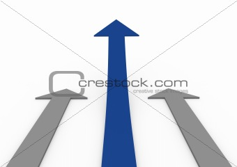 3d blue gray arrow high