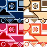 Set of backgrounds with geometrical shapes
