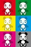 cute colorful panda sticker