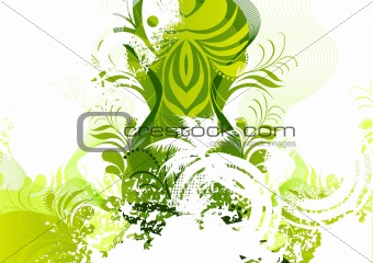 Floral Green Elements