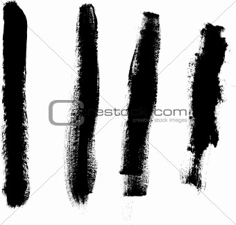 Grunge elements - 4 Thick Lines