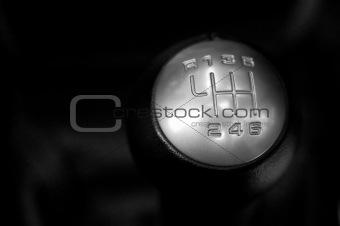 six speed gear stick